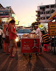 Flying or Padthai (aanegoro) Tags: street food thailand bangkok padthai khaosan amazingthailand canoneos7d bangkoksmiles