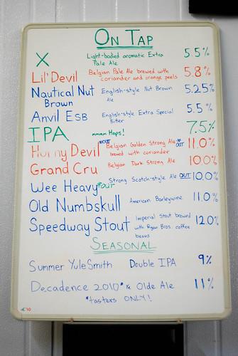 list of beers
