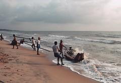 (Monica Forss) Tags: sea india film beach analog 35mm canon boat sand asia fishermen analogue nets tamilnadu mahabalipuram travelphotography canoneos1000 flickrtravelaward