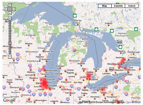 malicious ip address map- Michigan