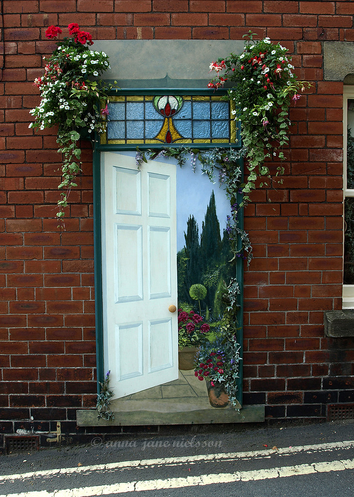 knaresborough paintings annajane tags door flowers art garden yorkshire paintings stainedglass doorway