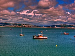 The Mumbles looking towards Port Talbot, Wales