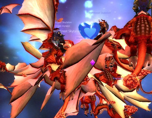 death of malygos, with the raid all mounted on red drakes