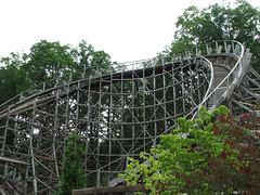 Thunderhead at Dollywood (ParkThoughts) Tags: wood wooden tennessee pigeonforge coaster 2009 themepark dollywood gci dollyparton thunderhead woodencoaster woodie woodcoaster woodenrollercoaster greatcoastersinternational