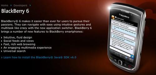 Blackberry SDK v6.0