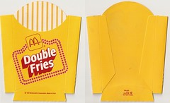 1987 McDonald's Double Fries box (daniel85r) Tags: mcdonalds 80s vintagepackaging