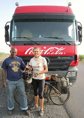 1d. Coca-Cola drivers stop to offer me a drink. Celebrating 20,000km