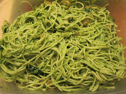 Chicken/Spinach Pesto Capellini (a little closer)