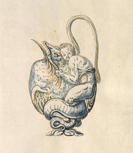 014-Cantaro dispensador de liquidos-Entwürfe für Prunkgefäße in Silber mit Gold-BSB Cod.icon.  199 -1560–1565- Erasmus Hornick
