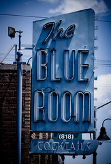 The Blue Room (TooMuchFire) Tags: blue signs typography bars neon signage burbank cocktails sanfernandovalley blueroom neonsigns theblueroom lightroom oldsigns vintagesigns canon30d cocktaillounges oldneonsigns