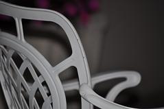 (~daisy valentina) Tags: macro bianco sedia ferro schienale braccioli
