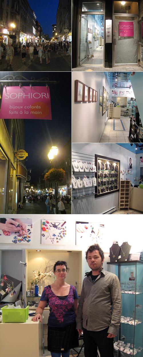 boutique Sophiori, Québec