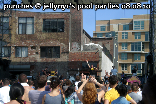 Punches at JellyNYC Pool Parties, Williamsburg Waterfront, August 8, 2010