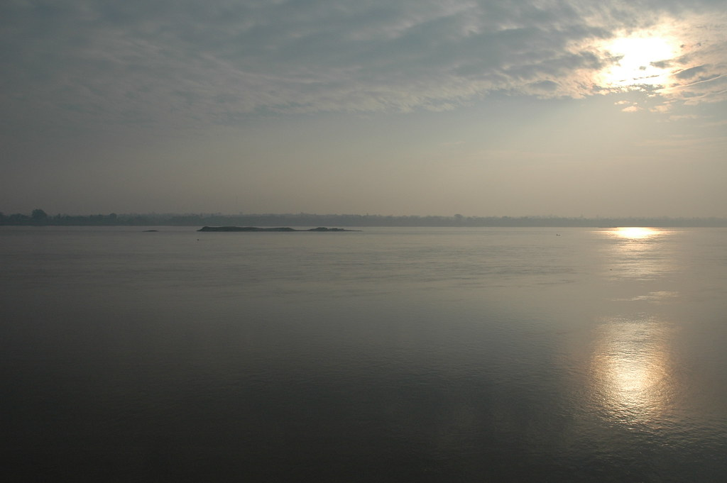 Early morning over the Mekong in Mukdahan