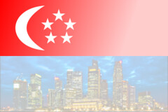 Singapore flag created with <canvas>