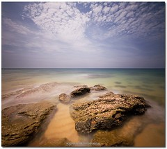 submerged rocky brotherhood (acidsulfurik) Tags: exposure terengganu kualaterengganu kualaabang beachnd 110nd dungunrocky 30nd1000bwvertoramalong