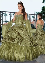 Olive Quinceanera (Sabrina Satin1) Tags: feminine fantasy satin crossdresser effeminate quinceanera ballgown crossdressingfantasy
