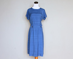 sapphire silk dress