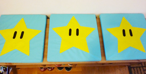 Super Mario Bros. themed cushions