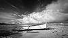 Cotton in the Sky (hijo_de_ponggol) Tags: sea sky blackandwhite bw cloud boat kodakero