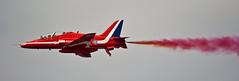 Red Arrows @ Rhyl #5 (JohnHallett) Tags: sky beach display jets airplanes airshow planes rhyl redarrows 2010 aerobatics northwales rhylairshow
