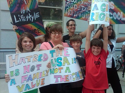 Young equality supporters in Raleigh