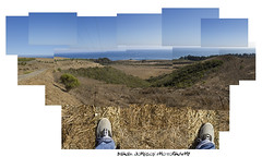 hockney inspiration (Derek Johnson | derekjohnsonvisuals.com) Tags: ocean california blue summer sky panorama inspiration feet colors santabarbara canon 50mm colorful afternoon photographer assignment sunny class clear pacificocean photograph 7d davidhockney homework goleta santabarbaracalifornia brooksinstitute brooksinstituteofphotography lglass canon7d derekjohnsonphotography canon50mmf12usml