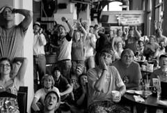 Spain wins! (Capa_r2) Tags: film netherlands loss festival bar happy championship spain montana butte kodak folk fifa soccer fans cheer win sorrow metals reaction 2010 nikonn8008s polaroidsprintscan35plus 50mmf18nikkorais