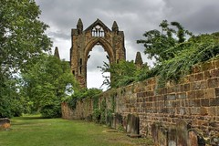 Churchyard (mcgin's dad) Tags: yorkshire hdr guisborough photomatix gisboroughpriory canon450d