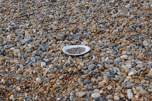 plate of blackeyed peas on beach_4211_1 web