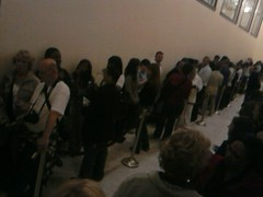 Line finally stretched to end of hall in addition to everyones patience.