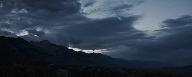 Clearing Storm over the Eastern Sierra