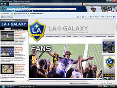 LA Galaxy Browser Theme for IE