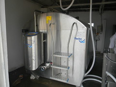 The newly installed milk cooler at Nabitanga