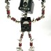 IBM - Found Object Robot Assemblage Sculpture Action Figure By Brian Marshall
