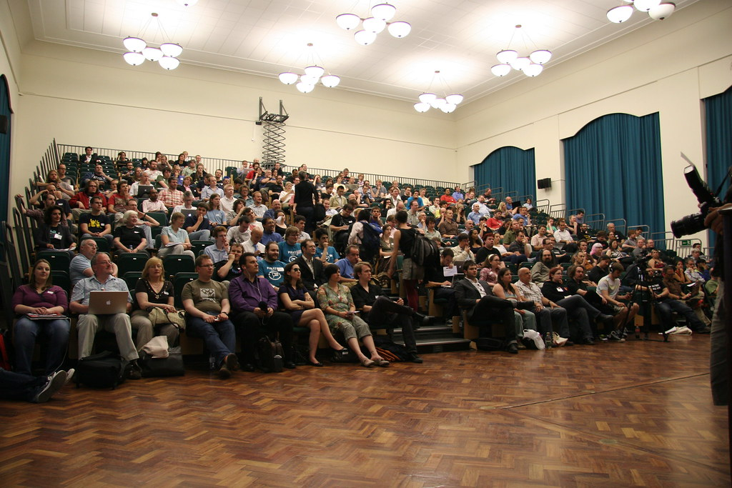 Audience at ORGCon