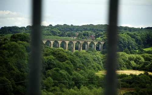 Railway Viaduct Seen From Crossing Pontcysyllte Aquaduct