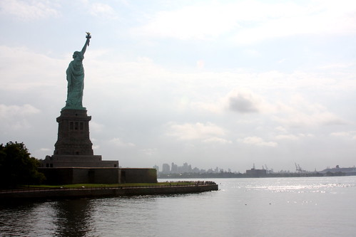 Statue of LIberty shining waters