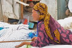 The Women of the Tolkuchka Market, #2 (**El-Len**) Tags: travel woman scarf market silkroad bazaar ethnic centralasia turkmen turkmenistan ashgabat tolkuchka