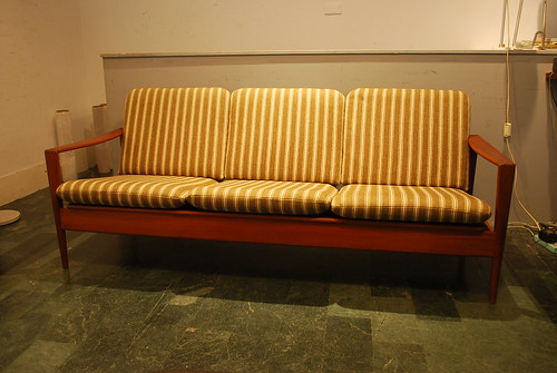 丹麥柚木三人座沙發
