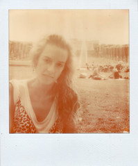 (Aijon) Tags: summer monochrome polaroid one retrato retro step 600 verano copenhague mireia onestep px600