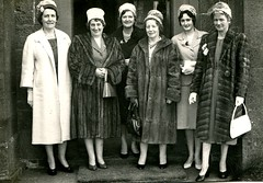Furs to the Fore - Forfar Wedding Guests, c 1961 (ronramstew) Tags: school wedding ladies guests scotland women angus group health 1960s forfar nurses tayside furs ravenswood publichealth margaretmitchell grampian helenmitchell elizabethproctor eleanorgrieve pegburness drmichaelmay drhird margaretburness