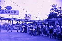 1960s Amsuement Park Entrance vintage photo (Christian Montone) Tags: men vintage women photos families amusementpark 1960s
