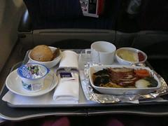 Dinner (DSC00685) (Passenger32A) Tags: dinner thailand seat meal economy thaiairways a340500premium