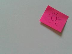 16/08/10 - liste de course (le regard ailleurs) Tags: pink sun white rose wall paper soleil postit note mur papier blanc