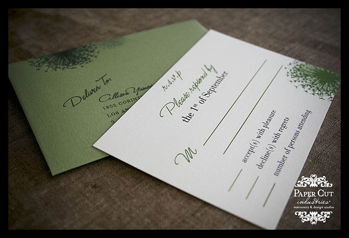 Custom Wedding Invitations RSVP card Response Card