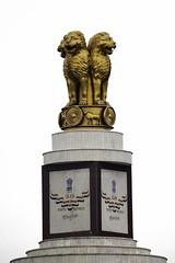 Indian Emblem (vishwaant) Tags: india marina truth symbol lions chennai tamilnadu ashoka truthalonetriumphs indianemblem vishwaant chennaibeach canoneos500d kissx3 t1i vishwaantin cvishwaant vishwaant