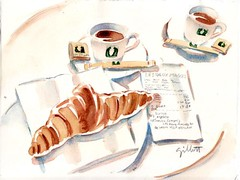 Yr Petit Dejeuner in Paris 8.17.10 (Paris Breakfast) Tags: croissants parisbreakfasts