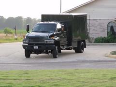 034 (stevenbr549) Tags: black truck 4x4 box tag plate 4wd vehicle government plates arkansas squad bomb gmc kodiak swat