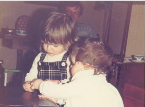 me and kirsty, c. 1982